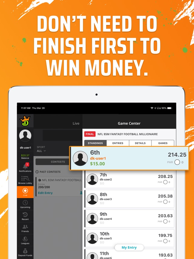 DraftKings Fantasy Football on the App Store