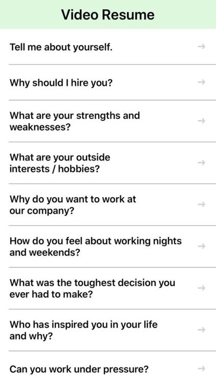 Video Interview & Resume (CV) screenshot-7