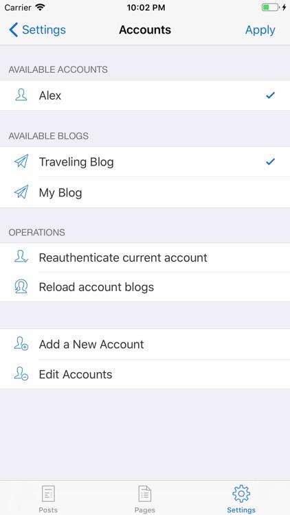 BlogTouch for Wordpress.com screenshot-6