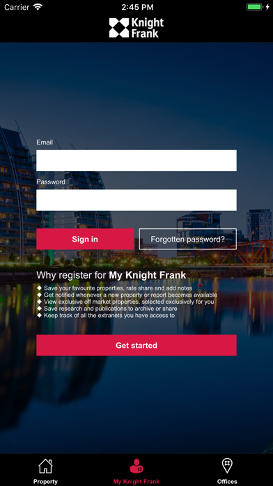 messages.download Knight Frank Property software