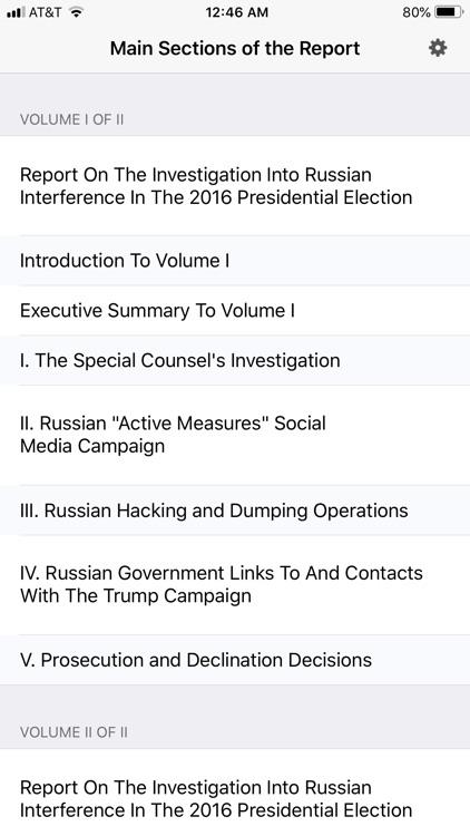 The Mueller Report Easy Reader screenshot-4