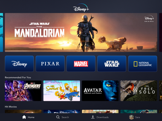 Disney+ screenshot
