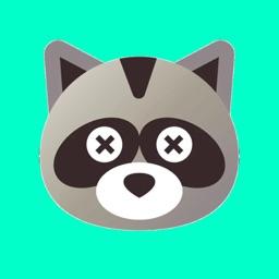 Raccoon Cartoon Stickers