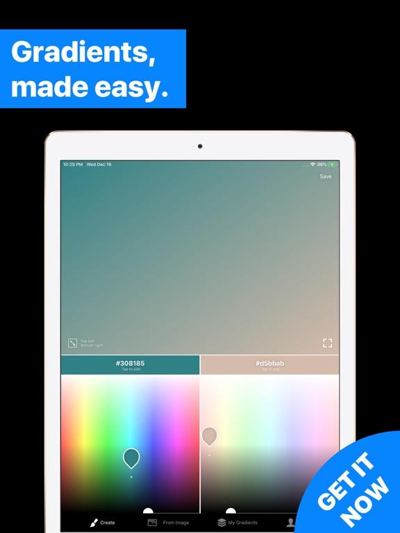 Gradients Maker Design Tool HD screenshot