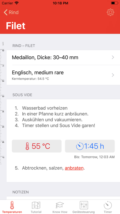 Screenshot for Sous Vide °Celsius in Germany App Store