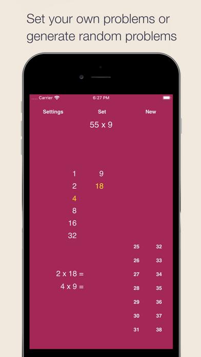 Egyptian Multiplication Method Screenshots