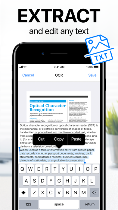 iScanner - PDF Scanner App Screenshots