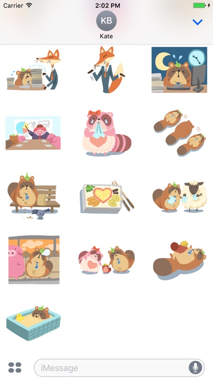 Mr.Pooh (Office) Sticker Pack screenshot-3