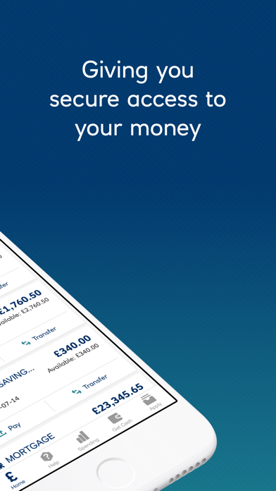 Ulster Bank NI Mobile Banking screenshot two