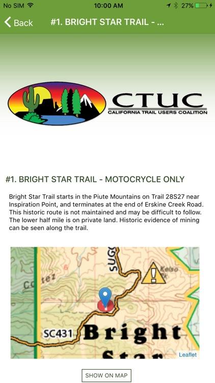 OHV Trail Map California screenshot-5