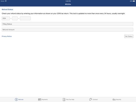 iPad Image of IRS2Go