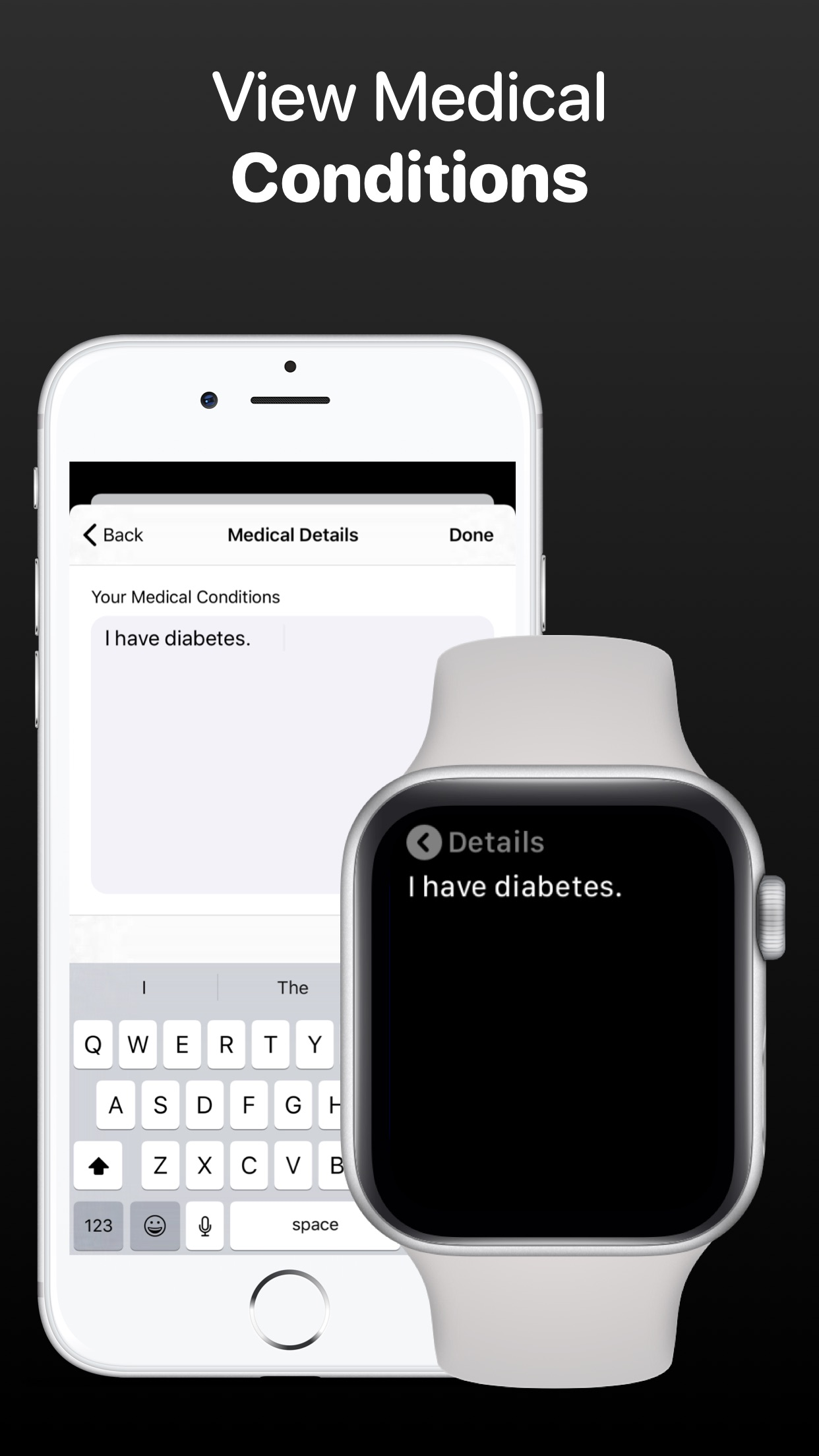 MediWear: Medical ID for Watch Screenshot