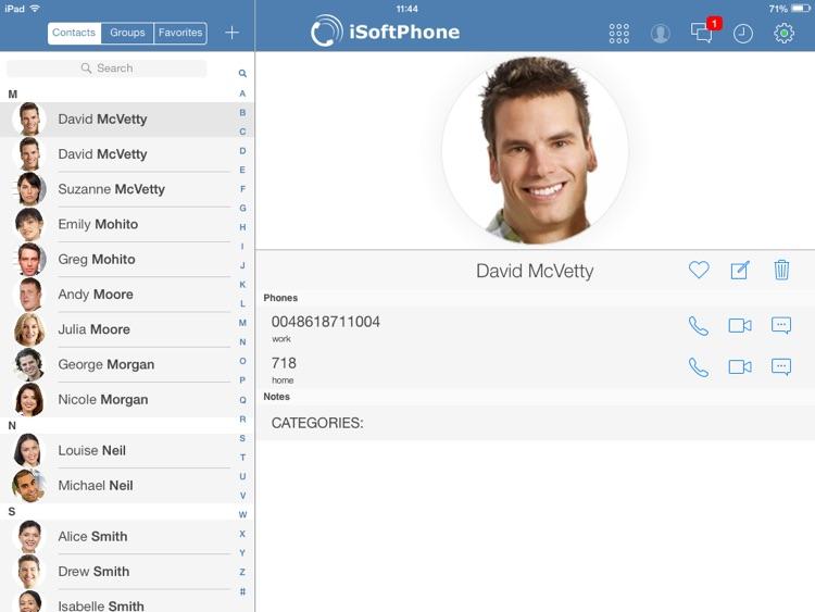 iSoftPhone for iPad