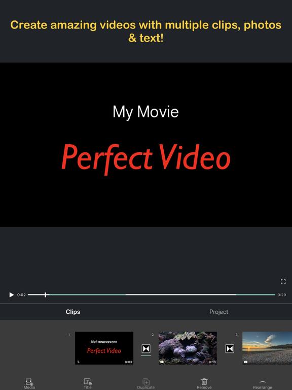 Video Editor - Movie Maker & Slideshow Creator - Perfect Video screenshot