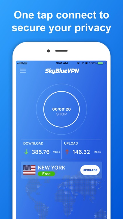 SkyBlueVPN: VPN Fast & Secure screenshot-2
