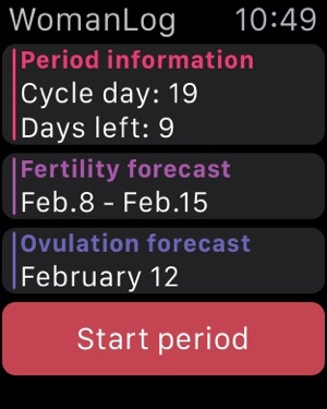 WomanLog Period Calendar on the App Store