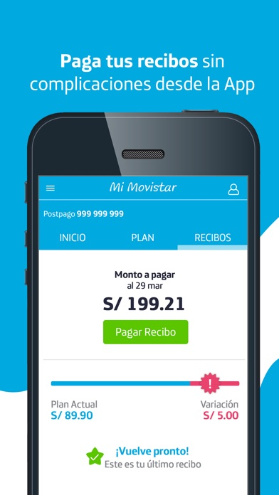 Screenshot for Mi Movistar Perú in South Africa App Store