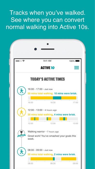 One You Active 10 Walk Tracker screenshot two