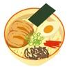 日本の麺 ステッカー