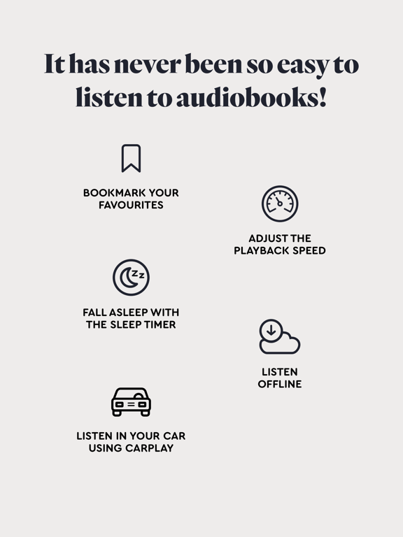 Screenshot #5 pour BookBeat Audiobooks & E-books