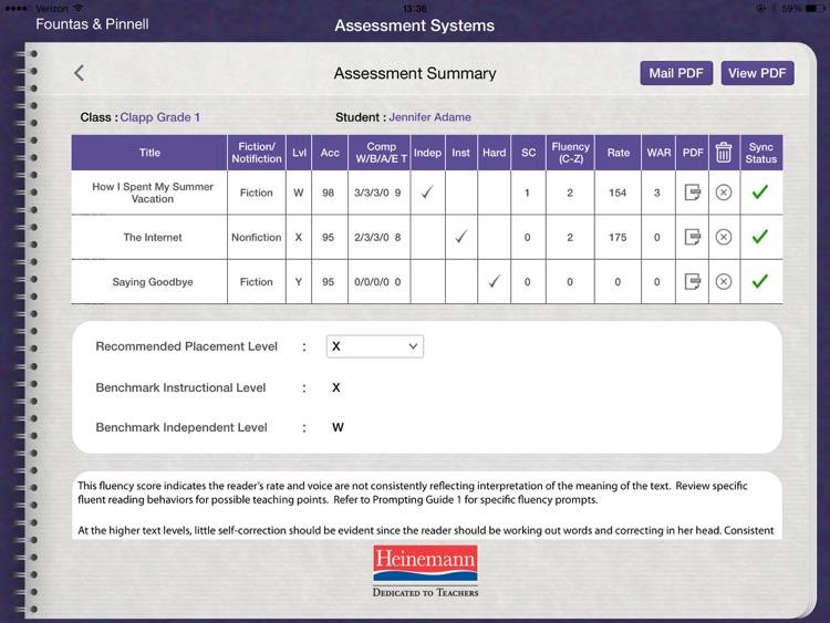 F&P BAS Reading Record Apps screenshot-3