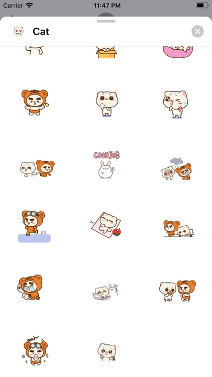 Lovey Cat Animated Stickers screenshot-4