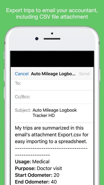 Auto Mileage Logbook TrackerHD screenshot-5