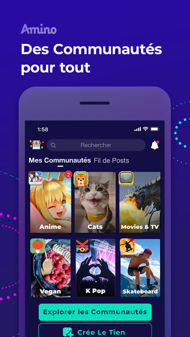 Screenshot #1 pour Amino: Communities and Groups