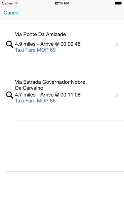 Macau Taxi Fare
