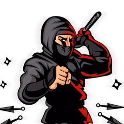 Ninja Dashing Stickers Pack