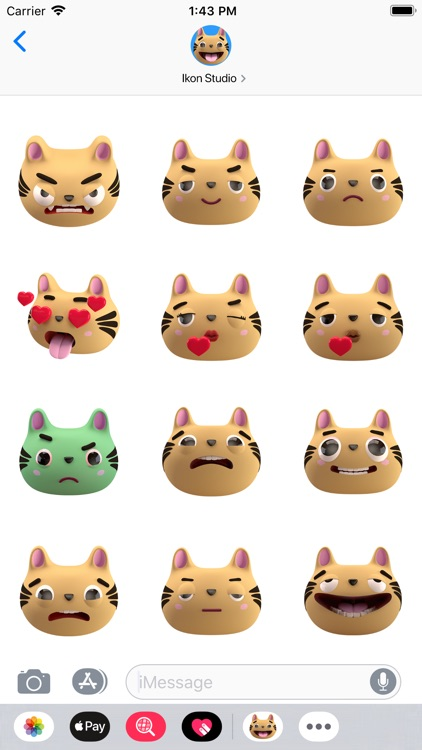 Max - 3D Cat Sticker Pack