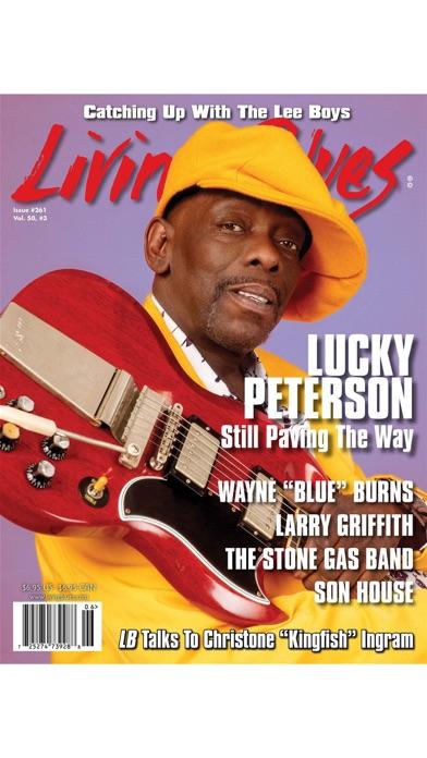 Living Blues Magazine review screenshots