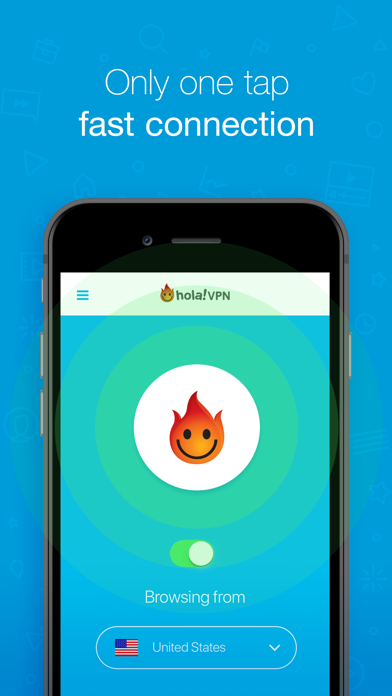 Hola Privacy VPN App Screenshot on iOS