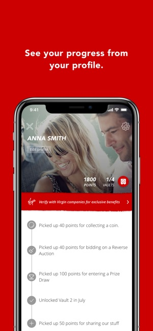 Virgin Red on the App Store