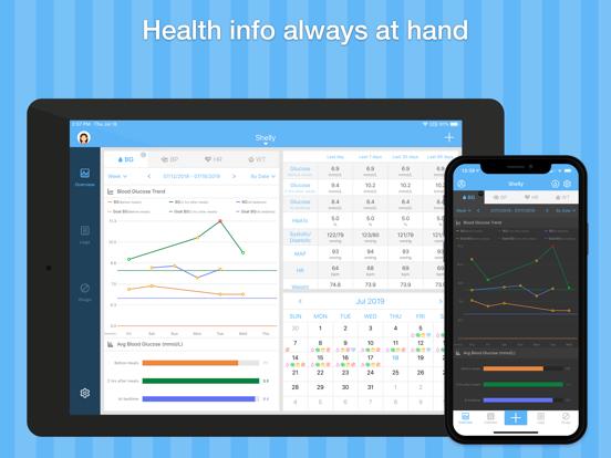 Glucose Wiz –  Blood Sugar Log and Medication Tracker screenshot