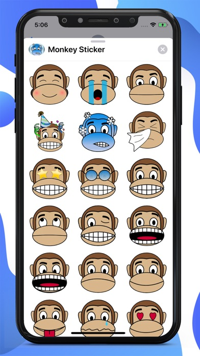 Monkey Cartoon Stickers screenshot 1