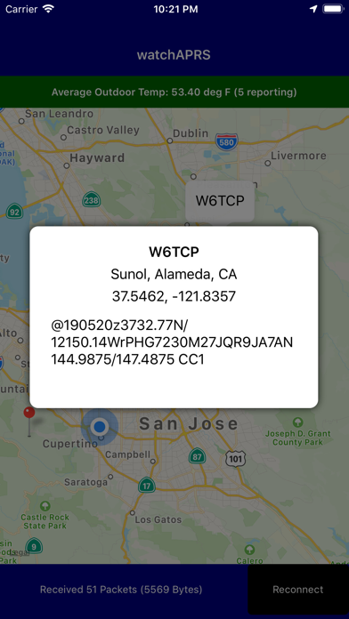 Watch APRS Position Tracker Screenshots