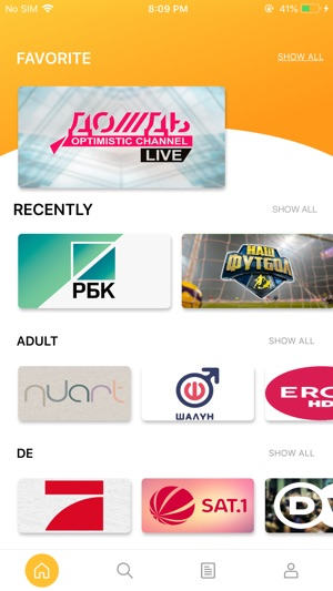 BfreeTV russian tv channels on the App Store