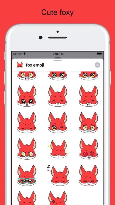 Fox emoji stickers pack screenshot 2