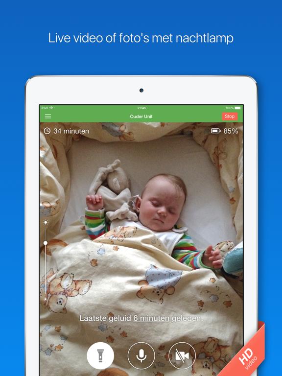Babyfoon 3G iPad app afbeelding 2