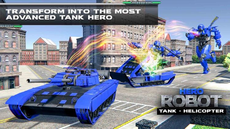 Helicopter Transform Tank War screenshot-4