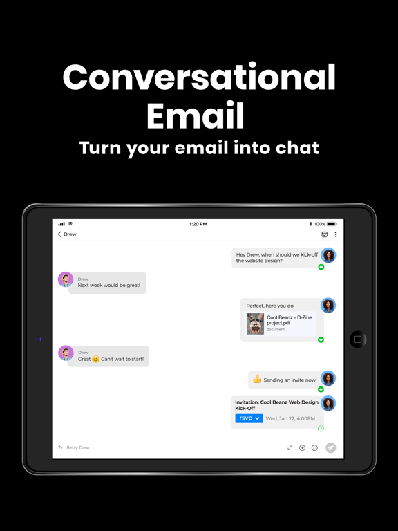 Spike - Email, Chat, Notes screenshot