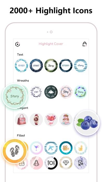 Screenshot #2 pour Highlight Cover & Logo Maker