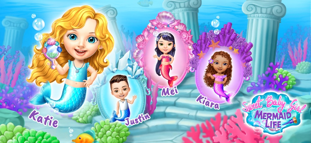 Sweet Baby Girl Mermaid Life