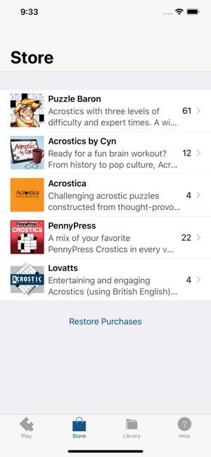 Acrostic Crossword Puzzles on the App Store