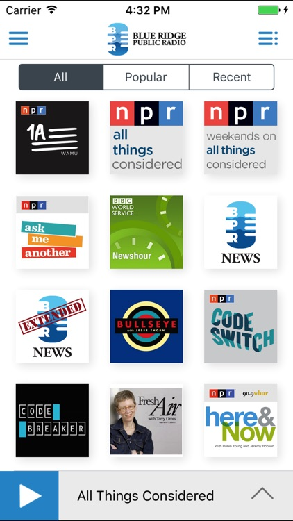 Blue Ridge Public Radio App screenshot-3