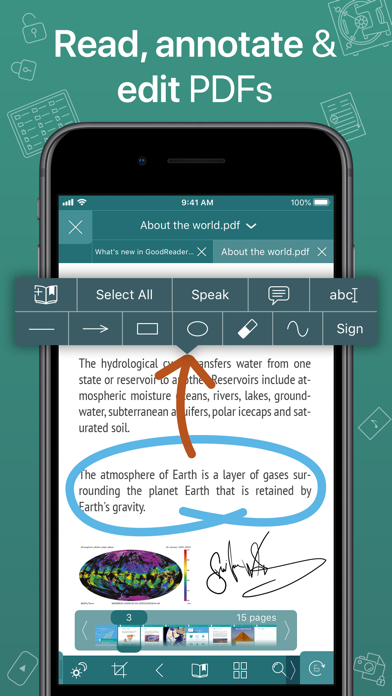 GoodReader PDF Editor & Viewerのスクリーンショット