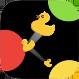 Duck it! Hard balls falling