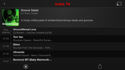Somafm Radio Player review screenshots