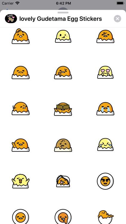 Lovely Gudetama Egg Stickers screenshot-5